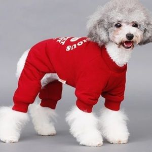 Other - Pet- Adorable Wine Color One Piece Sweatsuit